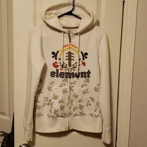 Element full zip tree leaf print hoodie